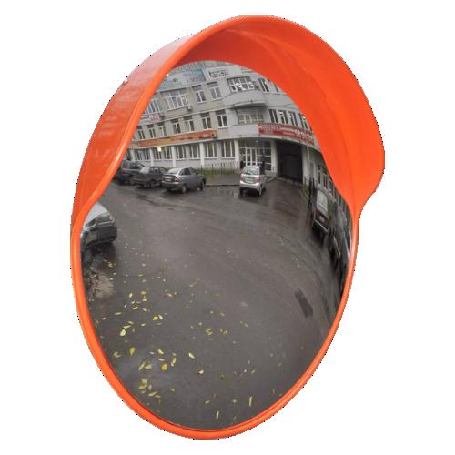 Обзорное универсальное сферическое зеркало с козырьком Ø-600